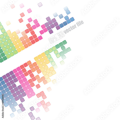 abstract pixelated colorful background