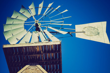 old windmill at sunset - Drumheller Alberta - LOMO