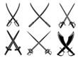 Swords, sabres and longswords set