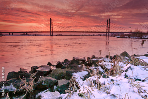 Sunrise at Molenbridge, Kampen, Netherlands