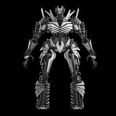 White Evil Robot