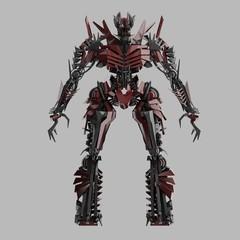 Red Evil Robot