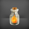 Fire in a bottle, icon