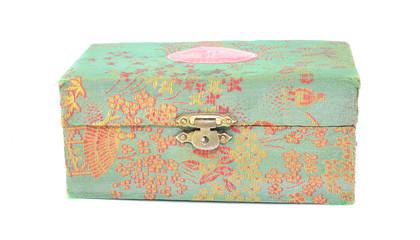 Caja forrada de tela