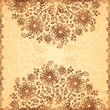 Ornate vector doodle chocolate and vanilla flowers background
