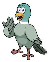 illustration of cartoon pigeon