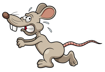 illustration of Cartoon rat running