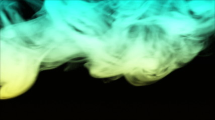 Real smoke over black background.