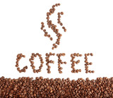 coffee beans text