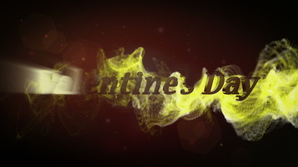 Valentine's Day, Text in Particle Red - HD1080