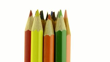 Top of color pencils