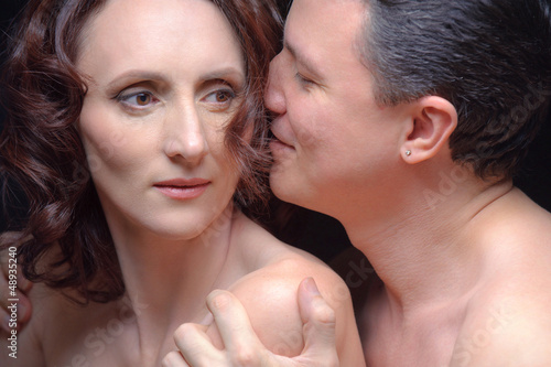 Closeup portrait of man and woman