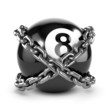 Chained 8 ball