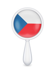Loupe with czech republic flag.