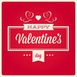 happy valentines day cards with ornaments