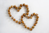 heart, nuts, dried fruits and nuts