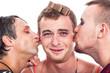Funny transvestites kiss