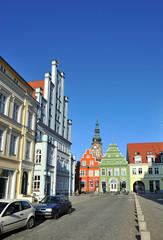 Häuserfront Altstadt Greifswald