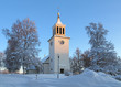 Dorotea Church in winter, Sweden