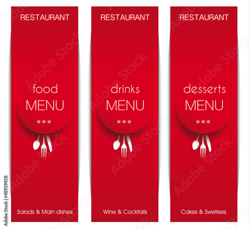 Three Red Long Menu