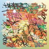 Fototapete Bricks - Grunge - Graffiti