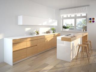 moderne küche mit dekoration