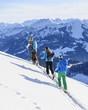 Drei Skitourengeher