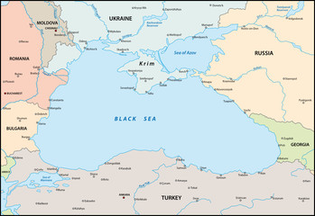 Black sea map