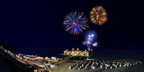 Feuerwerk Sellin Seebrücke Rügen