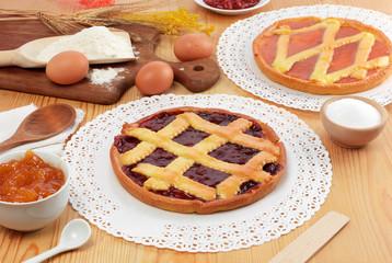 Crostate con marmellata - Jam tarts