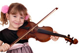 beautiful little girl play violin