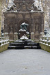 jardin du luxembourg sous la neige paris