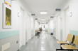 Leinwanddruck Bild - hospital hallway