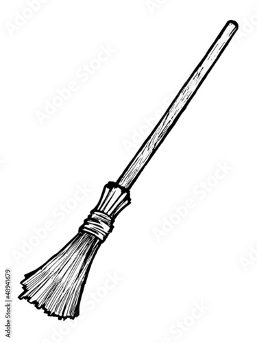 Illustration of a broom
