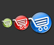 shopping icons web design.