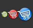 shopping icons web design.
