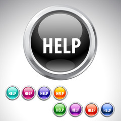 Help button - 9 colors set