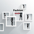 Abstract background, 3D Geometric shapes, Theme: fashion