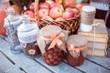 apples, jars, jams and books
