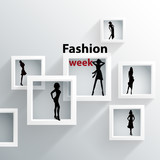 Fototapety Abstract background, 3D Geometric shapes, Theme: fashion