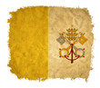 Vatican grunge flag