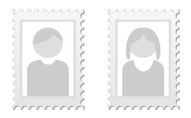 2 Bilder als Platzhalter für Userbild von Mann und Frau