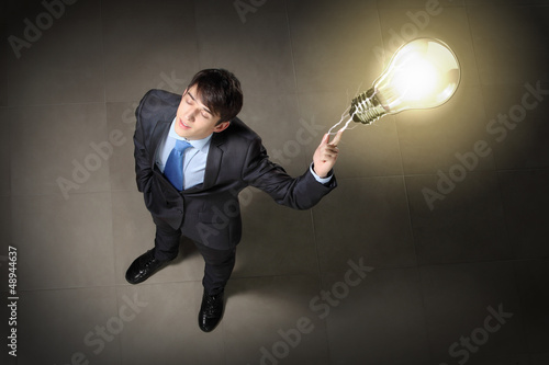 Image of businessman top view