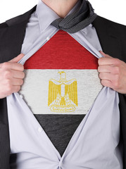 Business man with Saudi Egyptian flag t-shirt