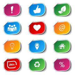 Vector internet icons - labels