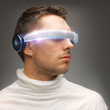 man with futuristic glasses