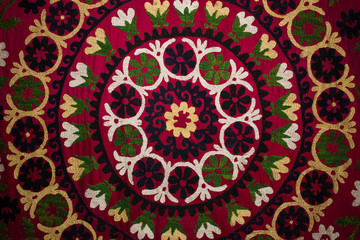 Traditional embroidered fabric