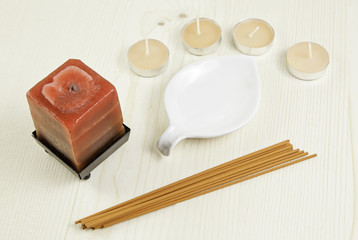 Scented candles and incense sticks