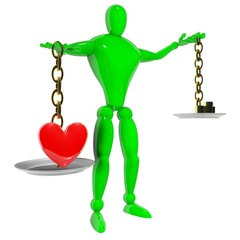 Love is more than money rendered 3d