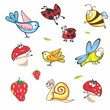 Set of funny spring animals for babies
